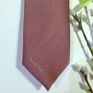 OSCAR DE LA RENTA Mauve Purple Tie w/ SILK